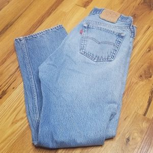 Vintage 501 button fly Levi's Strauss blue jeans